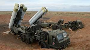 Desktop hintergrundbilder Raketenwerfer Russische S-400 Militär