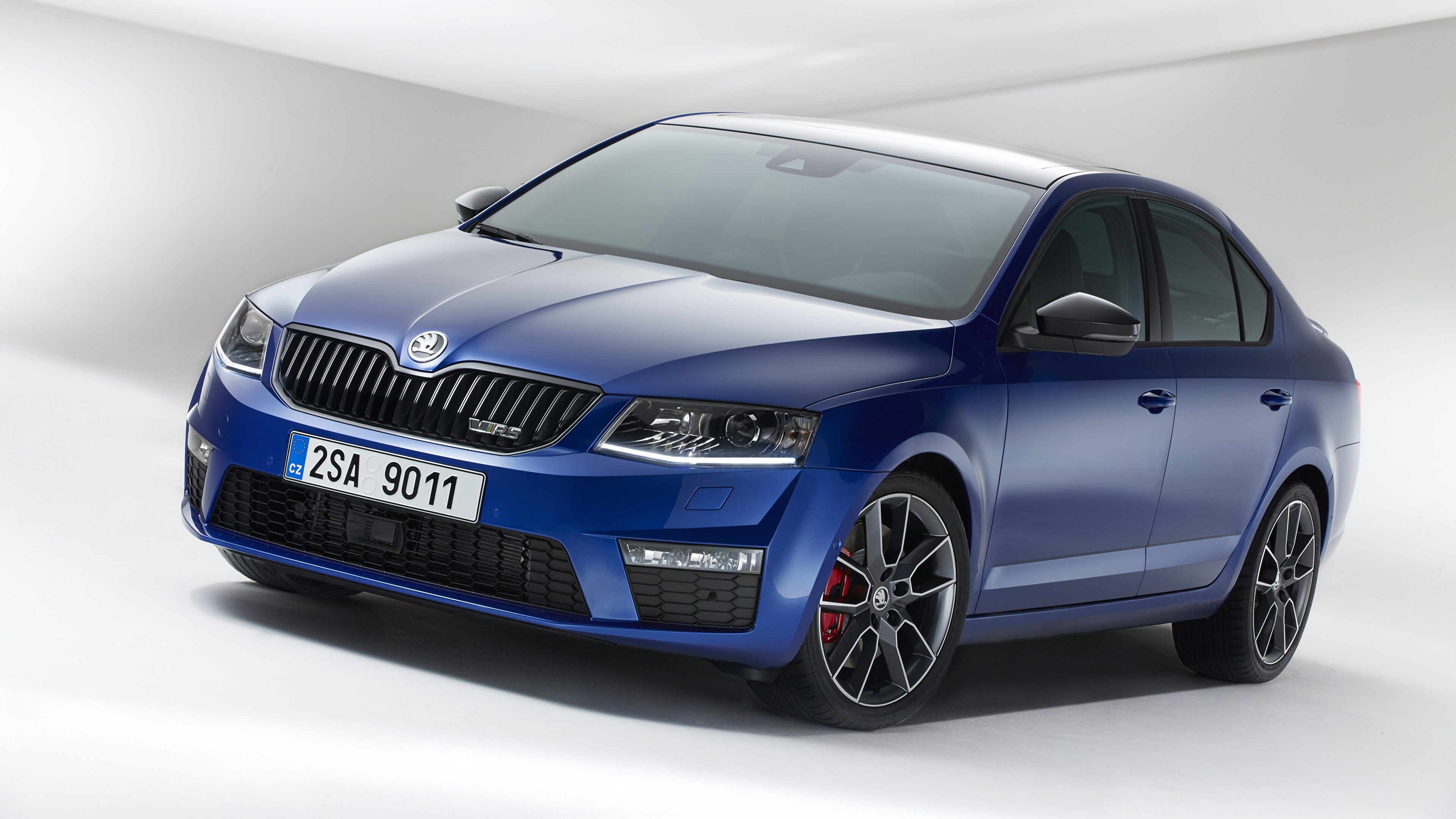 Picture Skoda Octavia Rs Blue Cars 3840x2160