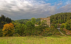 Bilder Deutschland Burg Ruinen Wald Gras Burg Balduinstein Natur