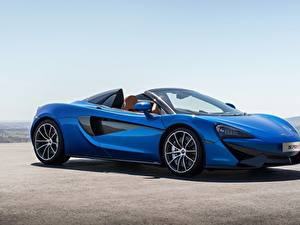 Fotos McLaren Roadster Blau 2017 570S Spider Worldwide