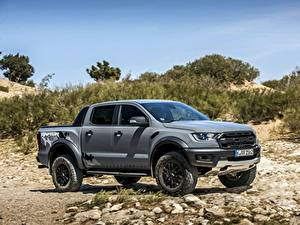 Fonds d'écran Ford Pierres Grise Pick-up Ranger Raptor Voitures