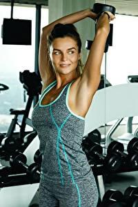 Fotos Fitness Hand Posiert Mädchens