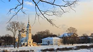 Hintergrundbilder Russland Winter Kirchengebäude Tempel Ast Schnee Vologda, Church Of The Presentation Of The Lord Städte