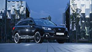 Hintergrundbilder Subaru Schwarz Metallisch Softroader 2019-20 Outback Black Line Autos