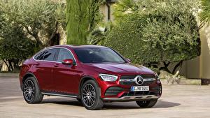 Fondos de Pantalla Mercedes-Benz Color burdeos Coupe Metálico  autos