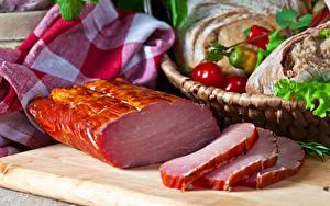 Fotos Fleischwaren Schinken Schneidebrett Lebensmittel