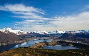 Fotos Berg Himmel Norwegen Wolke Helgehornet, fjords Natur