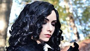 Hintergrundbilder The Witcher 3: Wild Hunt Brünette Haar Cosplay Yennefer