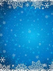 Bilder Neujahr Vorlage Grußkarte Schneeflocken