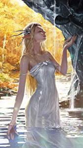 Fonds d'écran Elfes Eau Legend of the Cryptids Les robes Humide Jeux Filles Fantasy