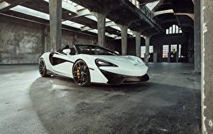 Hintergrundbilder McLaren Weiß Metallisch Roadster 2018 McLaren Senna