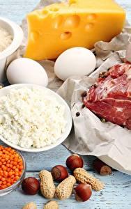 Bilder Fleischwaren Käse Nussfrüchte Topfen Weißkäse Quark Hüttenkäse Ei