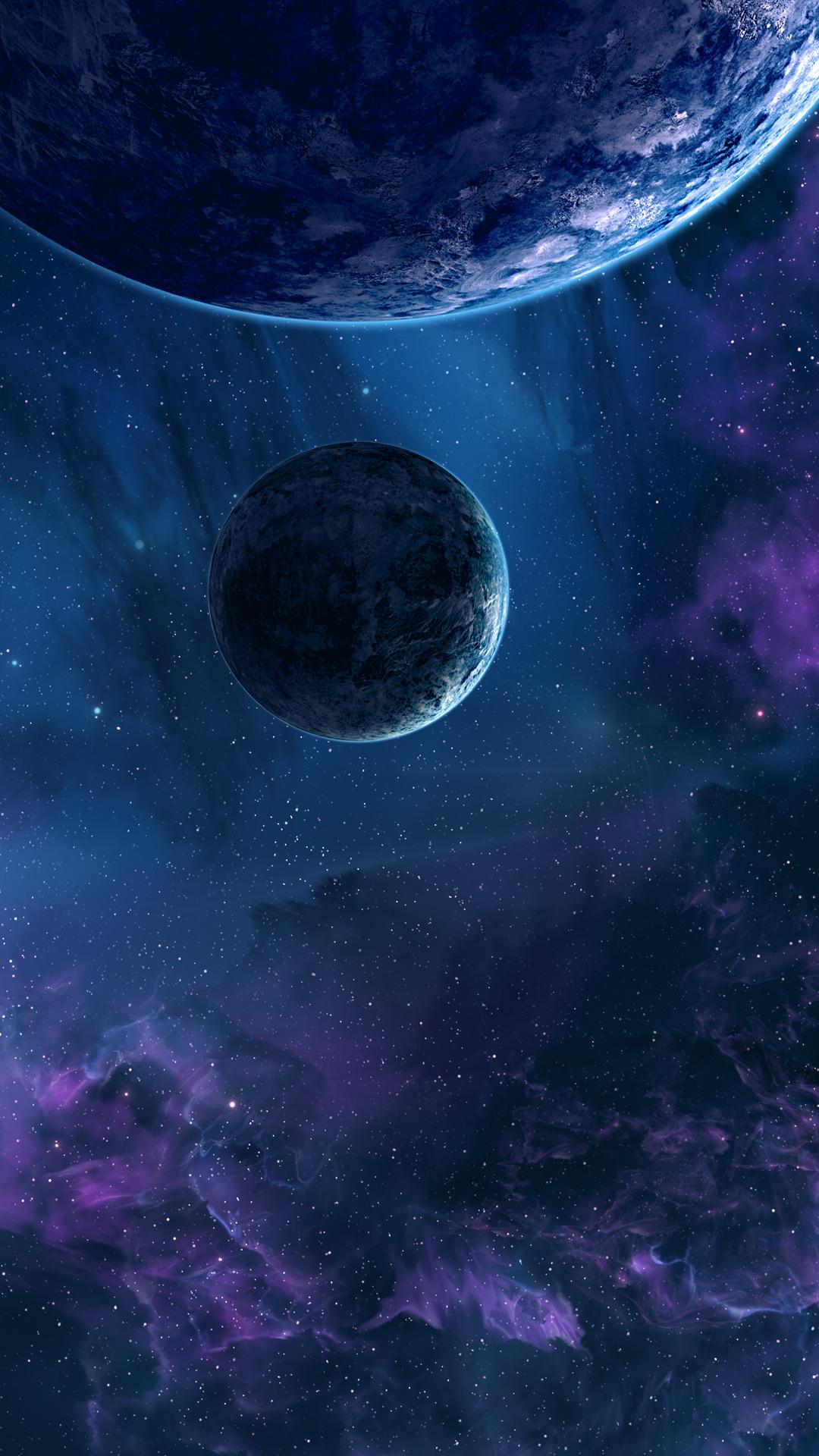 壁紙 1080x19 惑星 空間内の星雲 宇宙空間 ダウンロード 写真