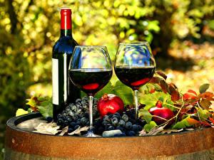 Fondos de Pantalla Vino Uvas Granada Botellas Vaso de vino 2