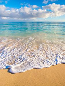 Hintergrundbilder Tropen Landschaftsfotografie Küste Wasserwelle Ozean Hawaii Sand Wolke Horizont Natur