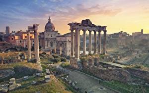 Hintergrundbilder Rom Italien Ruinen Säulen