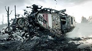 Bilder Panzer Battlefield 1 Britisch Schlamm Mark V Spiele 3D-Grafik