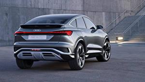 Bilder Audi Crossover Metallisch Hinten Q4 Sportback e-tron Concept, 2020 auto