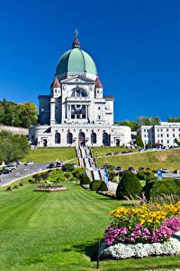 Fotos Kanada Tempel Rasen Strauch Montreal Städte