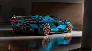 Fotos Lamborghini Roadster Hellblau  auto
