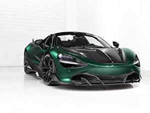 Hintergrundbilder McLaren Grün Metallisch Carbon Spider, TopCar, Fury, 2020, 720S auto
