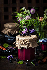 Bilder Powidl Johannisbeeren Weckglas Lebensmittel