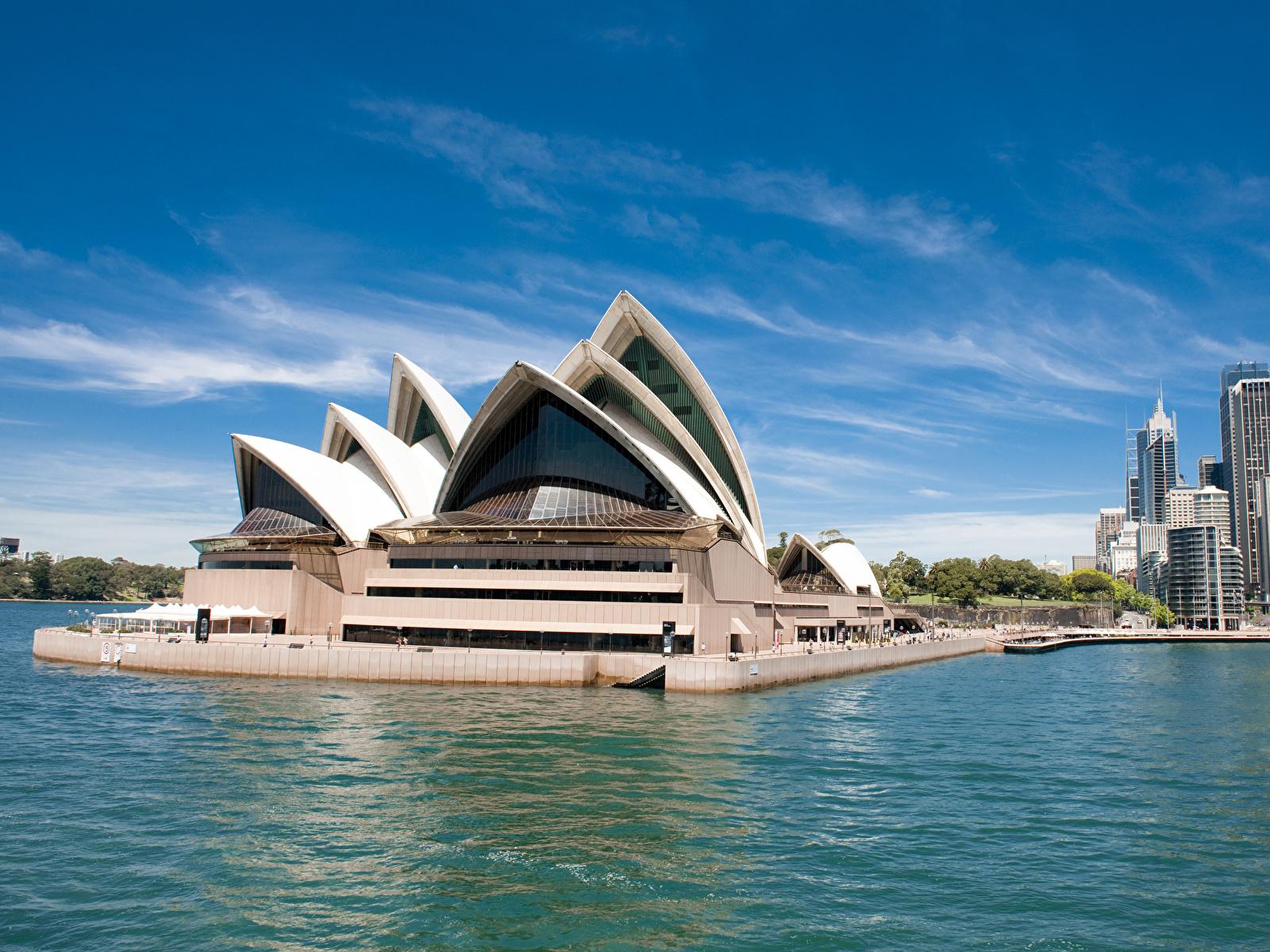 Foto Sydney Australien Bucht Haus Städte Design 1600x1200 Gebäude