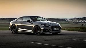 Hintergrundbilder Audi Abend Graue Metallisch Coupe RS5 Coupe, 2020 auto