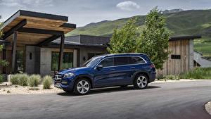 Fondos de Pantalla Mercedes-Benz Azul Metálico 2020 GLS 450 4MATIC el carro