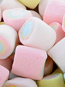 Fotos Süßigkeiten Großansicht Marshmallow Lebensmittel