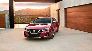 Fondos de Pantalla Nissan Burdeos color Metálico 2019 Maxima Platinum autos