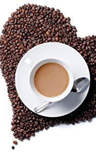 Bilder Kaffee Herz Getreide Tasse Untertasse Löffel Lebensmittel