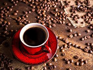 Fotos Kaffee Bretter Tasse Getreide das Essen