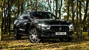 Fotos Maserati Schwarz Metallisch 2017-18 Levante S Q4 GranSport Autos
