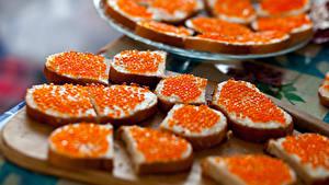 Hintergrundbilder Butterbrot Brot Meeresfrüchte Caviar