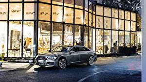 Hintergrundbilder Audi Graues Metallisch 2019-20 A6L 55 TFSI quattro S line automobil