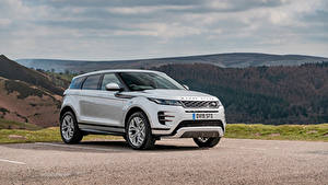 Wallpapers Land Rover White Metallic Crossover 2019 Evoque P300 HSE R-Dynamic Black Pack Cars