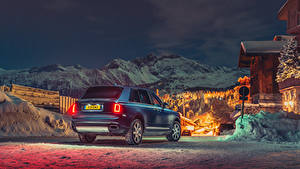 Bilder Rolls-Royce Blau Hinten 2018-19 Cullinan Autos