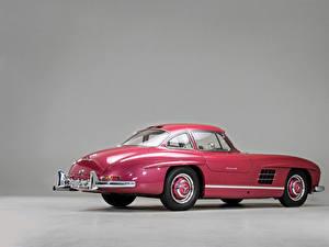 Hintergrundbilder Mercedes-Benz Antik Grauer Hintergrund Rosa Farbe Metallisch 1956 300 SL Autos