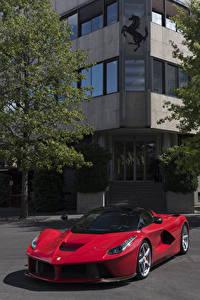Hintergrundbilder Ferrari Rot Metallisch 2012 LaFerrari Prototipo Autos