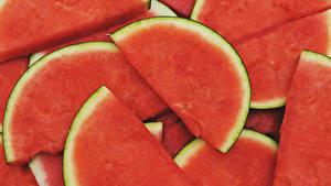 Hintergrundbilder Wassermelonen Großansicht Stück Lebensmittel