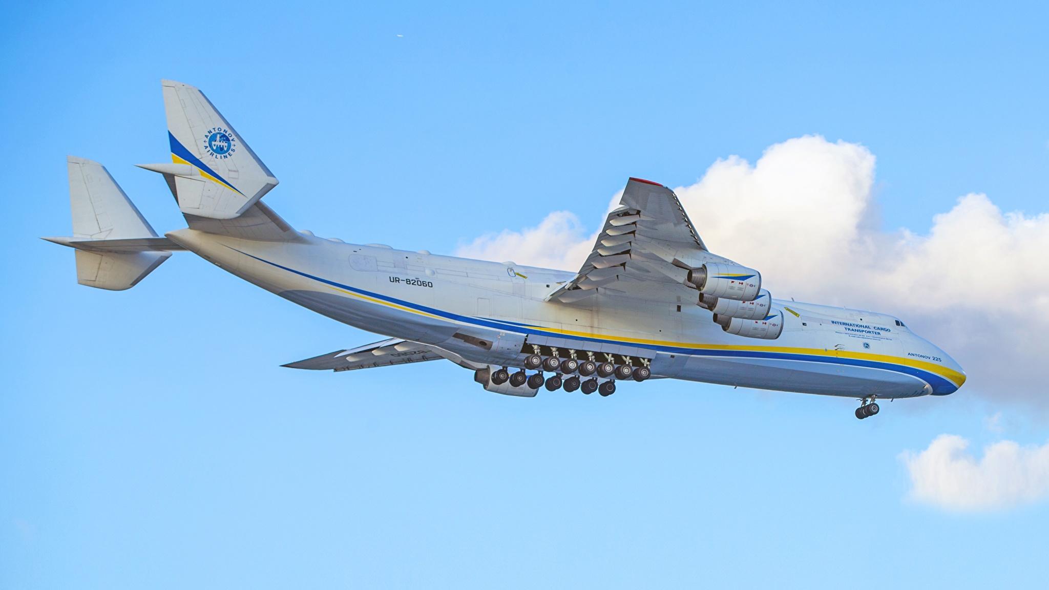 Bilder von Flugzeuge Transportflugzeuge Russische An-225 Mriya Luftfahrt 2048x1152