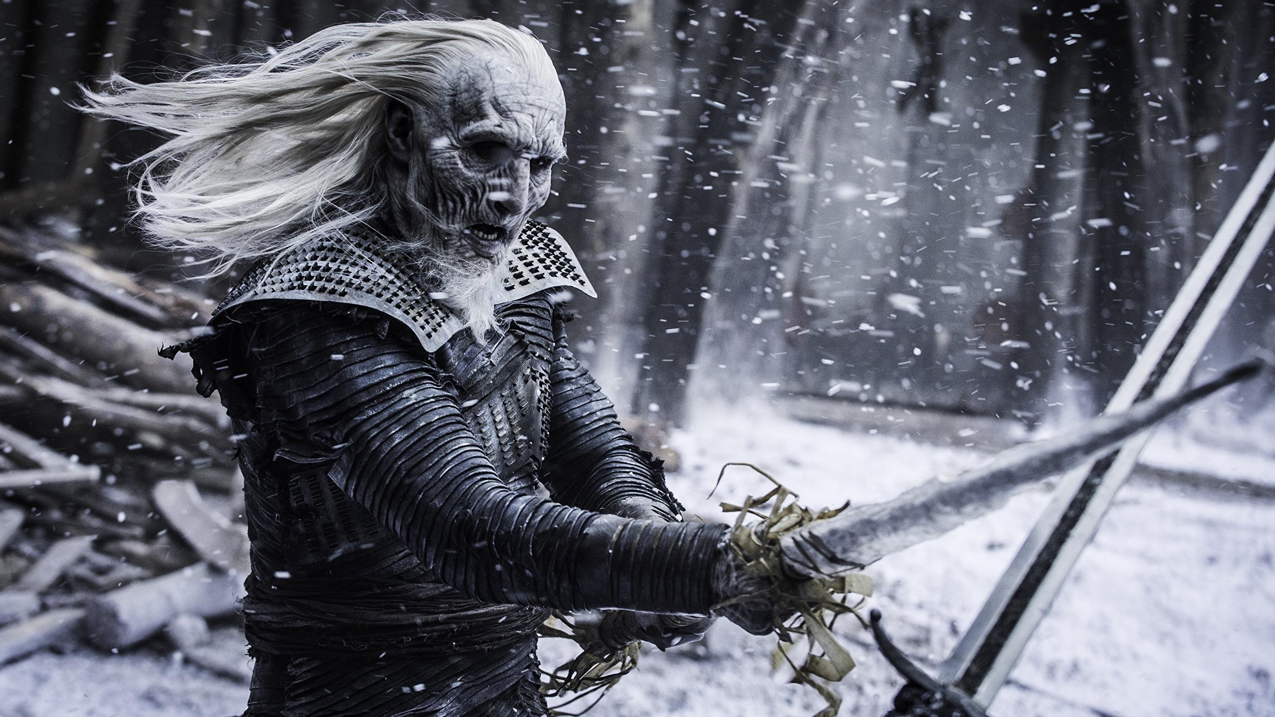 Photos Game Of Thrones Swords Season 7 White Walkers Fight 2560x1440