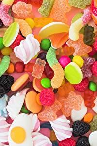 Fotos Süßigkeiten Bonbon Marshmallow das Essen