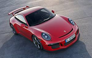 Wallpapers Porsche Red Coupe 911 GT3