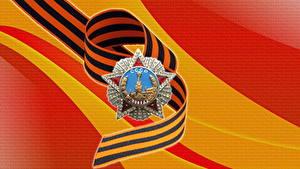 Fotos Tag des Sieges 9 Mai Feiertage Vektorgrafik Orden Medaille Russischer