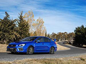 Hintergrundbilder Subaru Blau Metallisch 2017 WRX STI auto
