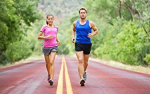 Hintergrundbilder Mann 2 Körperliche Aktivität Laufsport Uniform Mädchens Sport