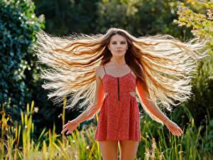 Fonds d'écran Cheveux Les robes Aux cheveux bruns Guenter Stoehr Filles