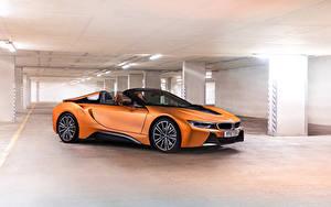 Bilder BMW Roadster Orange 2018 i8 Roadster